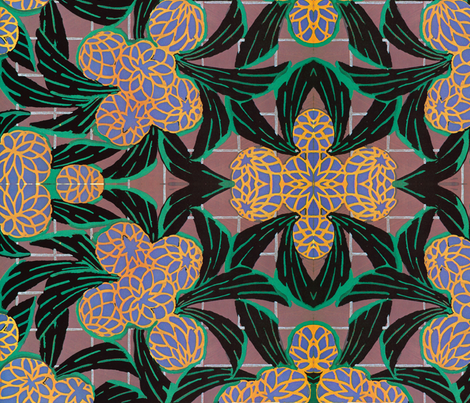deco flowers and wings fabric by craftyscientists on Spoonflower - custom fabric