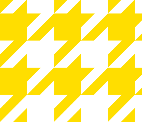 The Houndstooth Check ~ Sunshine ~ 4 inch checks fabric by peacoquettedesigns on Spoonflower - custom fabric