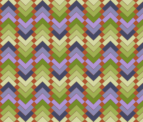 chevron squares wood violets fabric by glimmericks on Spoonflower - custom fabric