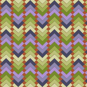 chevron squares wood violets