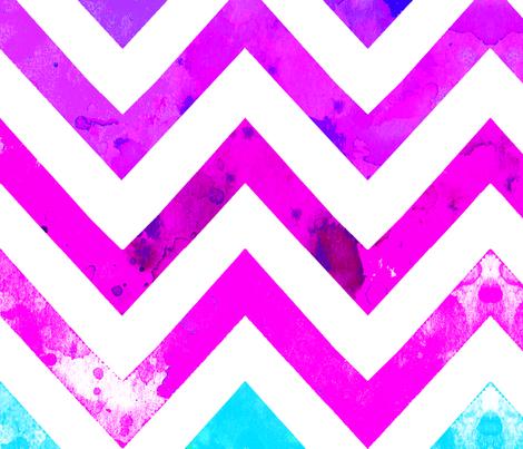 watercolor chevron blues pinks fabric by katarina on Spoonflower - custom fabric