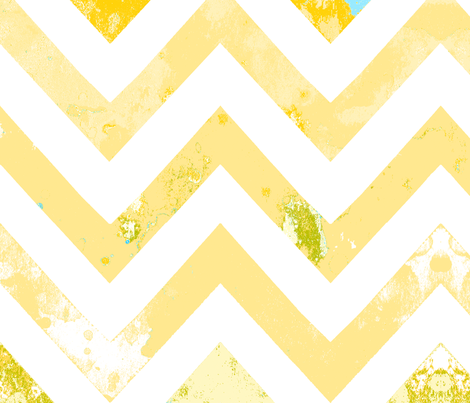 watercolor chevron rust vintage aqua fabric by katarina on Spoonflower - custom fabric