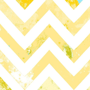 watercolor chevron rust vintage aqua
