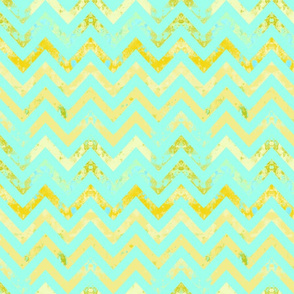 chevron rust aqua textured