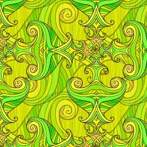 Green waves pattern