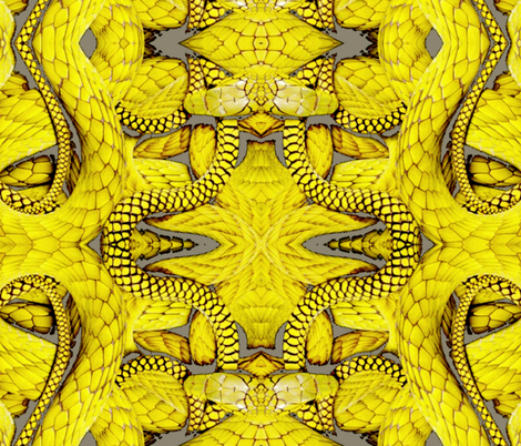 Not So Mellow Yellow Snakes fabric by whimzwhirled on Spoonflower - custom fabric