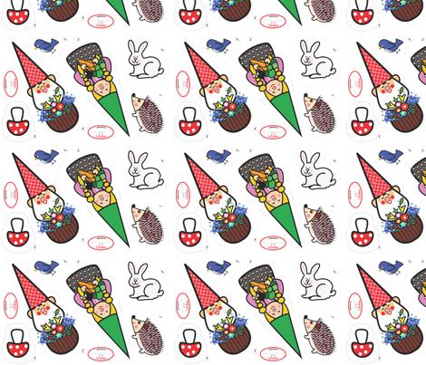 Gnome Play Set fabric by laleebu on Spoonflower - custom fabric