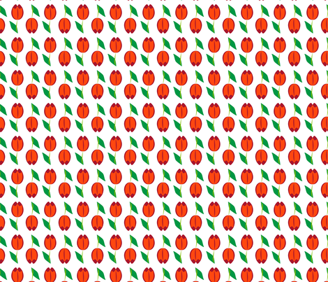 Tulips Abstract on White fabric by anderson_designs on Spoonflower - custom fabric