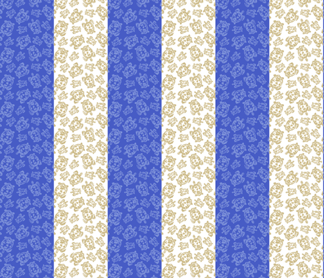 Turtle Stripe fabric by lulabelle on Spoonflower - custom fabric