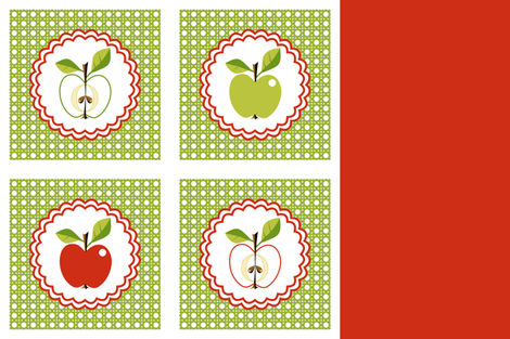 Apple - Turnovers! fabric by moirarae on Spoonflower - custom fabric
