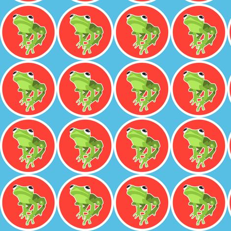 lil' froggie  fabric by lazydee on Spoonflower - custom fabric
