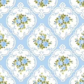 New Cameo Roses bright blue