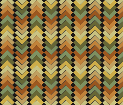 chevron squares earthen mix fabric by glimmericks on Spoonflower - custom fabric