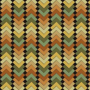 chevron squares earthen mix