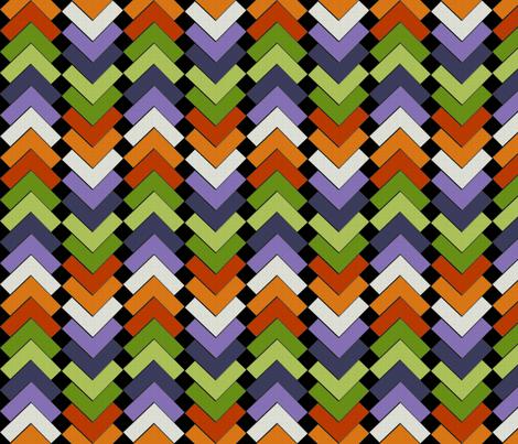 chevron squares folk dance fabric by glimmericks on Spoonflower - custom fabric