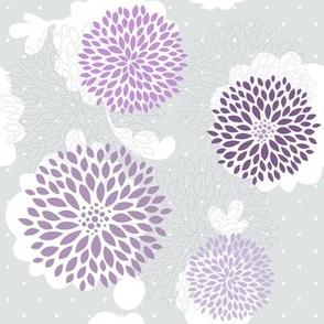 Grey violet flowers