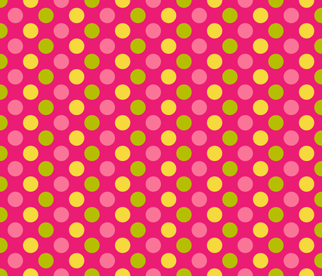 Pink Lemonade Dots fabric by mariafaithgarcia on Spoonflower - custom fabric