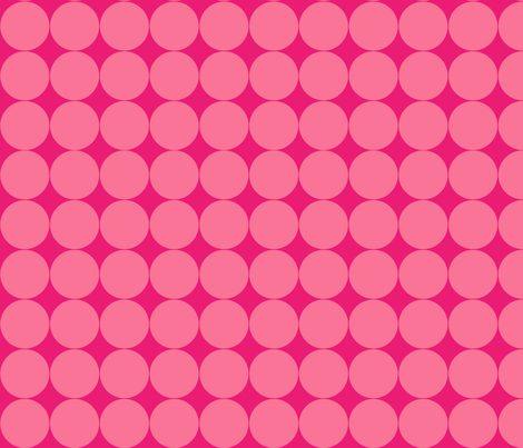 Pink Circles fabric by mariafaithgarcia on Spoonflower - custom fabric