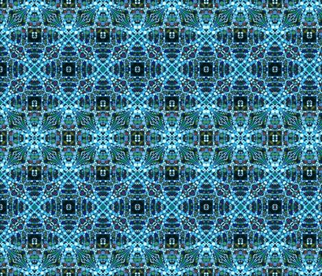 DNA Cross - Blue fabric by elramsay on Spoonflower - custom fabric