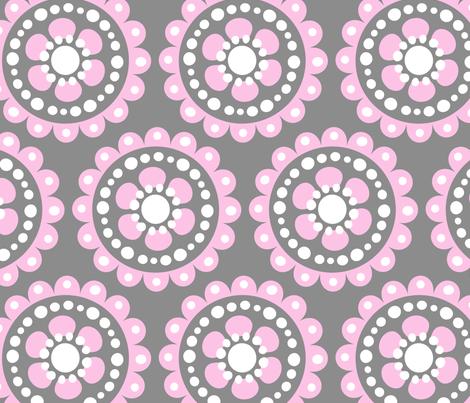 jb_flower_motif2_C_rpt fabric by juneblossom on Spoonflower - custom fabric