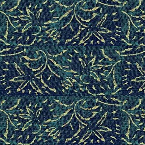 lilting lily - blue, turquoise, cream - fat quarter