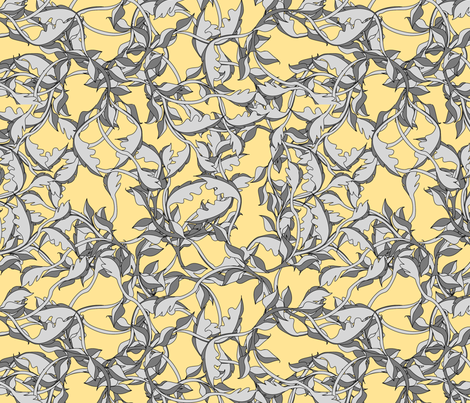 faery vines goldenlight fabric by glimmericks on Spoonflower - custom fabric