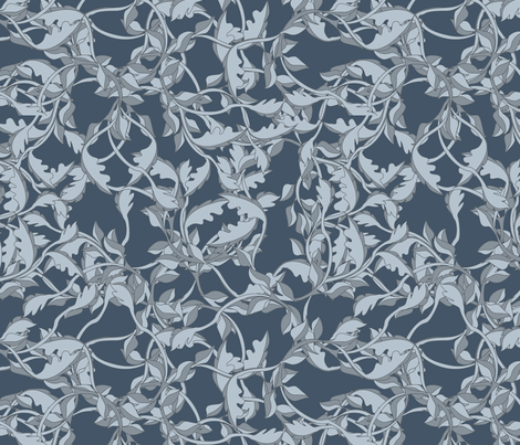 faery vines danish fabric by glimmericks on Spoonflower - custom fabric