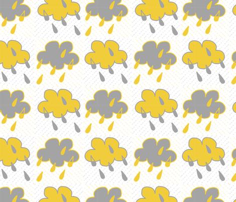 Sunshine Rain fabric by crimsonpear on Spoonflower - custom fabric