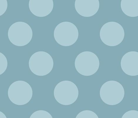 jumbo polka dots tonal blue fabric by juneblossom on Spoonflower - custom fabric