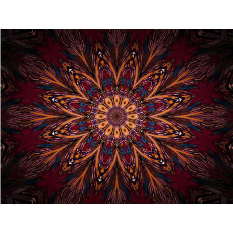 Kaleidescope 0824 k2 retrodark wine fabric by wyspyr on Spoonflower - custom fabric