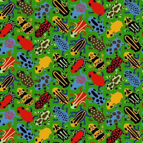 Poison Dart Frogs fabric by mongiesama on Spoonflower - custom fabric