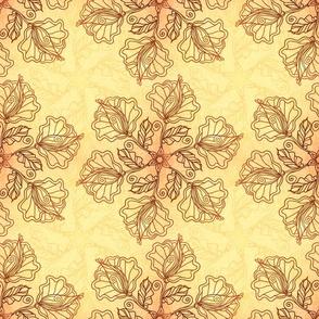 Ornate foliage pattern