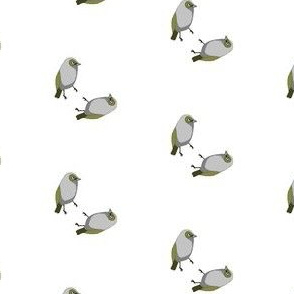 Waxeye Bird fabric
