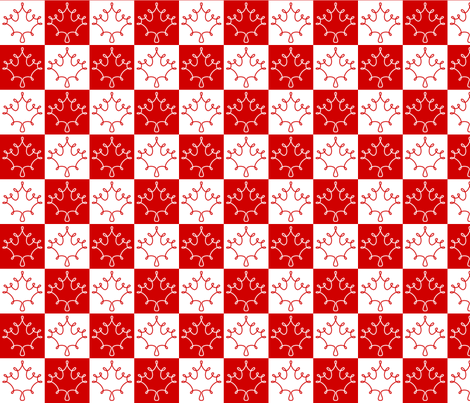 Canadian checkerboard fabric by loopy_canadian on Spoonflower - custom fabric