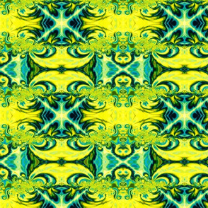 Gothic Revival-blue/yellow