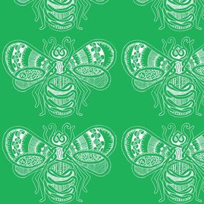 BeeHappy - xl - dark green reverse