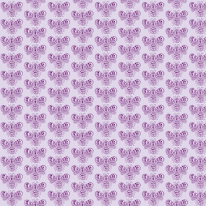 BeeHappy - sm - deep purple & pale lavender