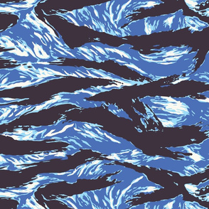 Lady Tigerstripe Camo - Blue Colorway