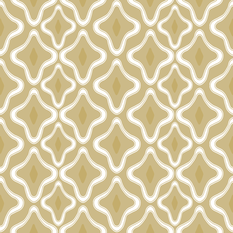 Ogee Trellis Tan fabric by lulabelle on Spoonflower - custom fabric