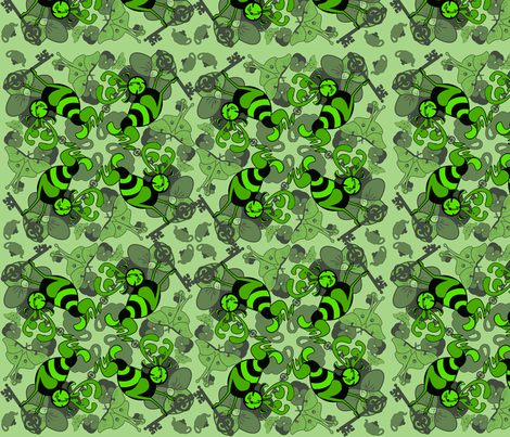 testpatterngreen fabric by craftyscientists on Spoonflower - custom fabric