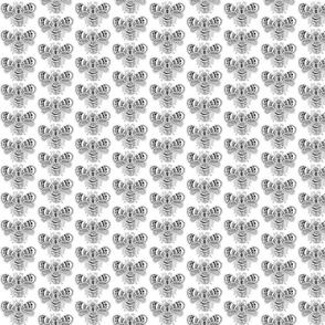 BeeHappy - sm - black &  white