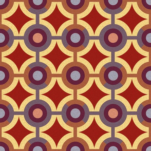 Red and Brown Geometric Pattern