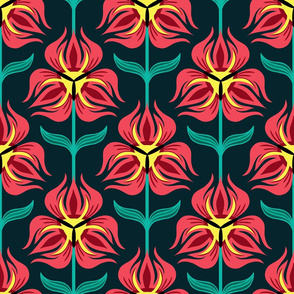 Red Tulp Pattern