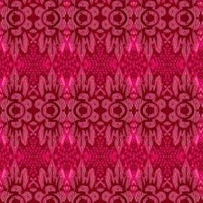 misty pink flower batik motif 3