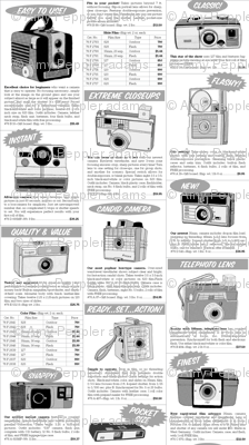 Shutterbug || vintage retro camera photography catalog advertising ad low volume black and white text