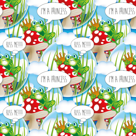 Frogs fabric by cassiopee on Spoonflower - custom fabric