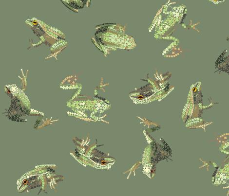 Dusky Green Amphibians fabric by pennyroyal on Spoonflower - custom fabric