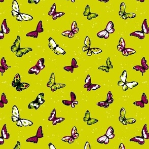 Seamless highly detailed background with butterflies