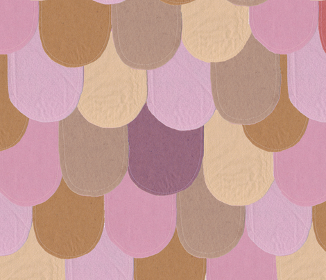 Cartoon Felt Roof Tiles fabric by helenmcprincesscakes on Spoonflower - custom fabric