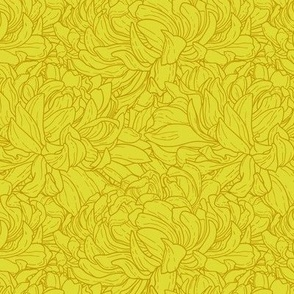 Duotone seamless pattern with chrysanthemum